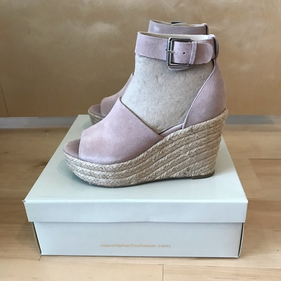 12e6c78ed85 Marc Fisher Cala Platform Wedge Sandals NWT